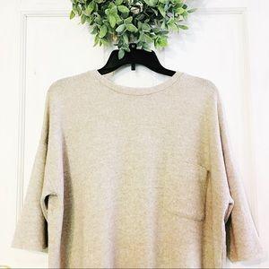Zara | Cozy Oversized Pocket T-shirt Sz M EUC